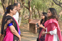 Faculty with Alumni Ms. purva Bhilare and Ms. Swanandi Tikekar
