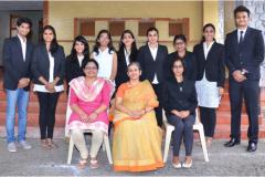 Principal Vaijayanti Joshi along with Student-