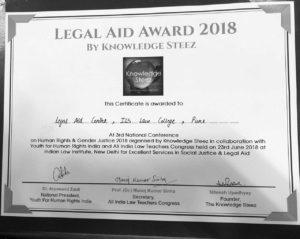Legal Aid Award 2018