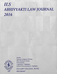 Abhivyakti Law Journal 2016