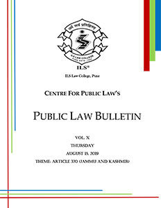 Public Law Bulletin Vol. X