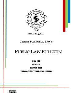 Public Law Bulletin Vol. XIII